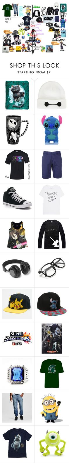 """my brothers Juan & Julian / The Twins"" by xochi-zavala on Polyvore featuring Disney, FAY, Converse, Kirito, B&O Play, Nintendo, Standard & Grind, men's fashion and menswear"