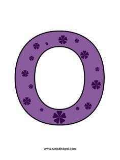 Striscione con la scritta welcome: lettera O - TuttoDisegni.com