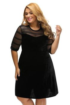 Robe casual chic grande taille