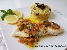 quelque part en Provence Fish Sauce, Fish And Seafood, Sushi, Detox, Food And Drink, Menu, Chicken, Cooking, Breakfast