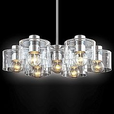 Transparence 7-Light Round Chandelier by Sonneman