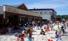 north adams, ma transformed a street in to a beach! (photo by iberkshires) // The Accessible City