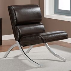 Rialto Brown Bonded Leather Chair