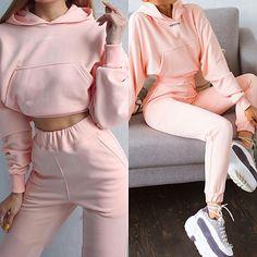 Tracksuit Pants, Jogger Sweatpants, Pants For Women, Clothes For Women, Casual Suit, Victoria, Sport Pants, Textiles, White Long Sleeve