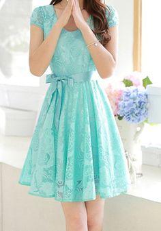 sweet aqua lace dress