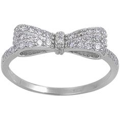 Pre-owned Bow sterling silver chic ring ($53) ❤ liked on Polyvore