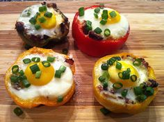 """The Everything"" Breakfast Stuffed Pepper Cups - Low Carb, Gluten Free 
