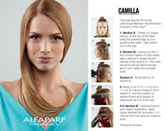 ALFAPARF MILANO COLOR TREND 1: Camilla Created by: Director of Education Teri Guardino  WHAT YOU NEED: Thermae Spa No Ammonia color/Super Meches+ No Ammonia/ Evolution of the Color3  Timing 40 minutes.  Read more: https://www.facebook.com/photo.php?fbid=1041792082534921&set=a.186072471440224.40470.169719026408902&type=3