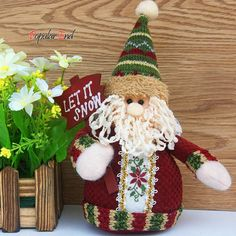 New Arrival Snowman Reindeer Santa Claus dolls children toys Christmas Ornament Xmas Tree House Decoration doll Best Gift SV22
