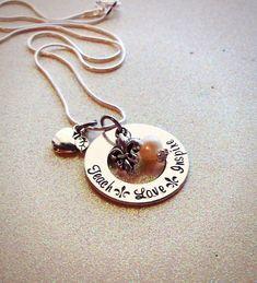 Fleur de Lis Teacher Necklace Great Gift for Christmas by GabbieGoodies, $16.00