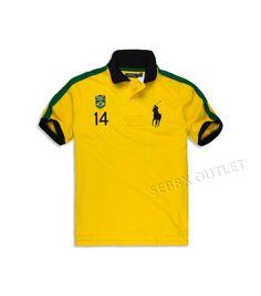 Polo Ralph Lauren Rugby Polo Shirt Big & Tall Yellow Brazil