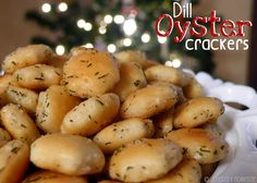 Dill Oyster Crackers. Just a few simple ingredients turn plain oyster crackers into an inexpensive, yet highly addictive snack to sit out for your guests this holiday season!