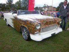 1955 Chevrolet Bel Air custom #classic #car #flames #paint #job...