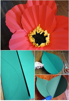 let me make you some giant paper flowers - The House That Lars Built