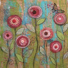 Angela Anderson Art Blog: Mixed Media Poppies
