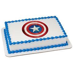 Amazing savings on marvel's avengers captain america 2 Captain America Party, Captain America Shield, Captain America Birthday Cake, Pastel Capitan America, Avengers Birthday, Edible Cake, Wedding Preparation, Cupcake Party, Marvel Avengers
