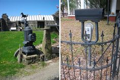 recycled materials weird mailboxes