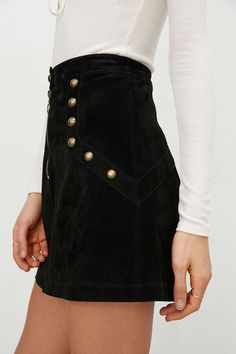 Ecote Molly Suede Mini Skirt