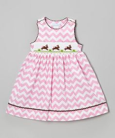 Another great find on Vive La Fête Pink Zigzag Bunny Button Dress - Toddler & Girls by Vive La Fête Girls Easter Dresses, Toddler Girl Dresses, Toddler Outfits, Kids Outfits, Girls Dresses, Toddler Girls, Smocking, Kids Dress Patterns, Button Dress
