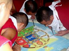 Monks making a sand mandala in the Karmapa's Temple - Picture of Dharamsala, Kangra District - Tripadvisor Indian Eyes, Dharamsala, Temple Pictures, Buddhism, Trip Advisor, Mandala, Spirituality, Photo And Video, Travel