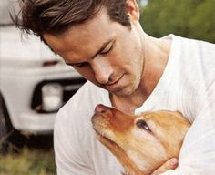 Ryan Reynolds and a puppy..could it get better?