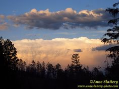 Thunderhead at sunset over the Sangre De Cristo Mountains from the Jemez Mountains, Northern New Mexico. IMG_D_15032 by The Bright Edge - Photography by Anne Slattery, via Flickr