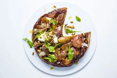 To make this recipe ahead, let the tart cool in pan, then reheat over medium to soften glaze before inverting. Homemade Ravioli, How To Cook Mushrooms, Savory Tart, Quiche Recipes, Holiday Recipes, Holiday Meals, Dinner Recipes, Have Time, Side Dishes