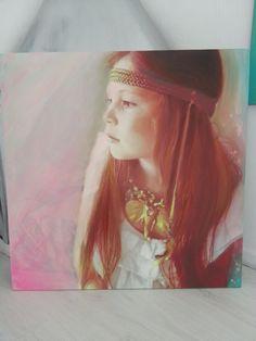 painted acrylic portrait of chloe