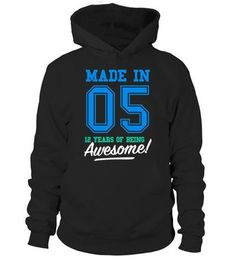 CHECK OUT OTHER AWESOME DESIGNS HERE!   Made in 05, 12 years of being awesome! This boy was Made in 2005 tee. This boy has 12 years old. 12th anniversary gifts, 12th anniversary shirts, 12th birthday boy, 12th birthday shirts for boys, teen shirts for boys, teens clothing. Perfect shirt for young boys at age of 12. Cool and funny vintage college sports old school style t-shirt design for kids, ideal as a present for twelve year olds. Birthday gifts for girls, for mother and father.
