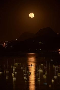 Outstanding Night Photography from Botafogo Rio de Janeiro........  Harbour  Photo by Alan Seabra on Flickr...