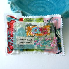 Lavender Sachet  Patchwork Sachet Small pillow by tracyBdesigns