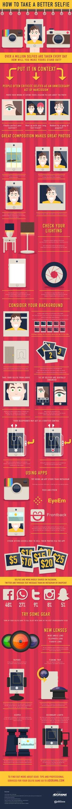How To Take A Better Selfie --shared by NowSourcing on Aug 07, 2014 - See more at: http://visual.ly/how-take-better-selfie#sthash.X7vrG3xj.dpuf