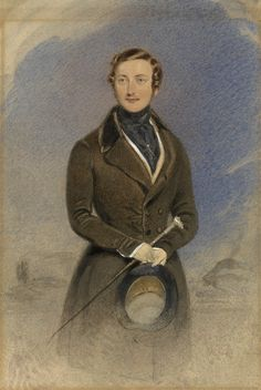 Portrait of Prince Albert by William Drummmond at time of his marriage to Victoria.