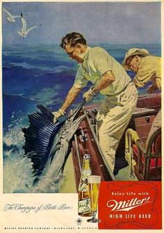 Cool old fishing ad