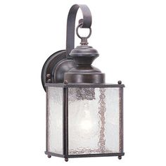 For by the two house doors (larger version by garage).......Jamestowne One-Light Outdoor Aluminum Wall Lantern | Overstock.com Shopping - Big Discounts on Sea Gull Lighting Wall Lighting