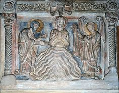 Monastery of Saint John in Müstair, CH Pre Romanesque, Romanesque Sculpture, Free Standing Sculpture, Baptism Of Christ, Merovingian, Romanesque Architecture, Saint John, Medieval Art, Abstract Images