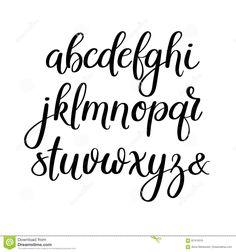 Handwritten Brush Letters Abc Modern Calligraphy Hand Lettering Vector Alphabet Stock Vector Art & More Images of Alphabet 646720958 Modern Calligraphy Alphabet, Calligraphy Fonts Alphabet, Handwriting Alphabet, Hand Lettering Alphabet, Brush Letter Alphabet, Font Styles Alphabet, Modern Caligraphy, Doodle Alphabet, Letter Fonts