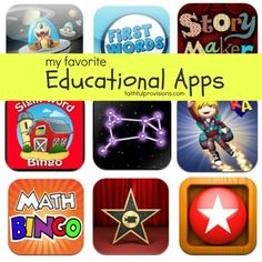 My Favorite iPad Educational Apps - Faithful Provisions Teaching Technology, Teaching Tools, Educational Technology, Teaching Ideas, Best Educational Apps, Educational Activities, Kindergarten, Kids Education, Education English