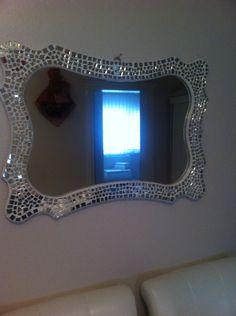 Ayna kırıklarından çerçeve # ayna....