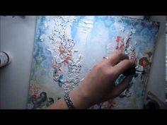 'Treasured Memories' mixed media background by Marta Lapkowska