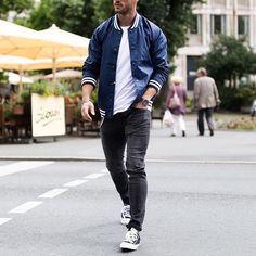 #varsityjacket , jeans and @vans ❣✨ by @magic_fox [ www.RoyalFashionist.com ]