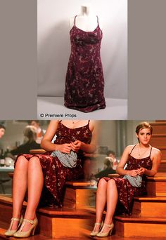 Emma wore an Express Dark Red Floral Print Dress as Sam in the movie Perks of Being a Wallflower.Wore with: Gabriella Rocha Shelby2 Patent Leather Pumps