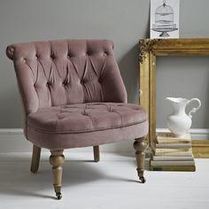 Musted Rose Pink Gray Plum Velvet Chair