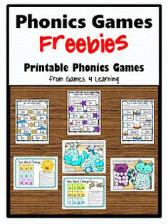 Fun games 4 learning has lots of math and literacy games for all grade levels! Jolly Phonics, Free Phonics Games, Phonics Activities, Kindergarten Literacy, Early Literacy, Literacy Activities, Preschool, Alpha Phonics, Literacy Centres