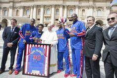Meet the newest Harlem Globetrotter: Pope Francis - The Washington Post