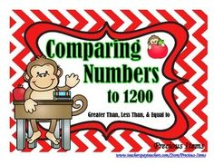 This activity is comparing numbers greater than, less than, and equal to with the numbers anywhere from 120 to 1200.  Students will view each card and place the correct apple on the card.  I use my activity cards in my math stations.  I clip them together and the students use the student answer sheet to place the correct answer.