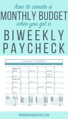 Are you struggling with how to budget your bi weekly paychecks and pay monthly bills?  Learn how to create a monthly budget that works with your every other week paychecks.   Monthly Budget | Budgeting Money | Budgeting Finances | Managing your Money  #mommanagingchaos #money #budget #biweekly Budgeting Worksheets, Budgeting Tips, Budgeting Finances, Ways To Save Money, Money Saving Tips, Money Tips, Weekly Budget Printable, Budget Binder, Monthly Budget Spreadsheet