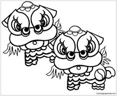 Chinese New Year Coloring Pages My Project 2019 Pinterest