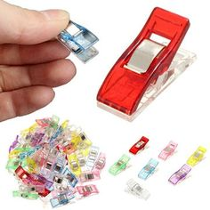 Fixed Clip Multifunction Plastic Small Clip for Fabric Quilting Craft Sewing Knitting Crochet is hot sale at NewChic, Buy best Fixed Clip Multifunction Plastic Small Clip for Fabric Quilting Craft Sewing Knitting Crochet here now! Serger Stitches, Sewing Crafts, Diy Crafts, Diy Buttons, Arts And Crafts Supplies, Garden Supplies, Craft Bags, Love Sewing, Sewing A Button