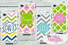Monogrammed Lifeproof Cases for your iphone 4- shipping and processing now.  at The Pink Monogram